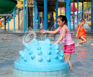 Carp Spray Park Fiberglass Water Park Equipment , Water Play Equipment
