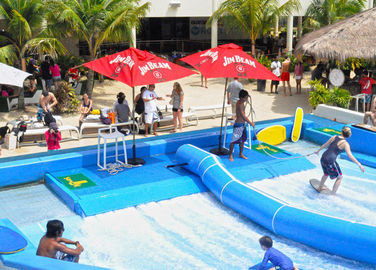 Outdoor Aqua Play Flowrider Water Ride For Skateboarding Surfing Sport